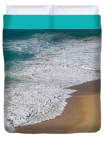 Just Waves And Sand By Kaye Menner Duvet Cover by Kaye Menner