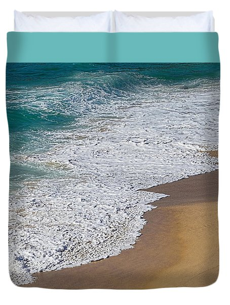 Just Waves And Sand By Kaye Menner Duvet Cover