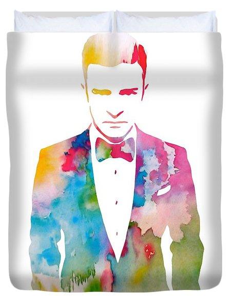 Justin Timberlake Watercolor Duvet Cover