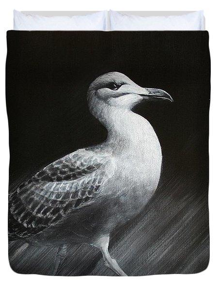 Juvenile Gull Duvet Cover