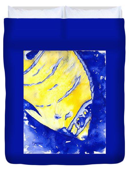 Juvenile Queen Angelfish Duvet Cover