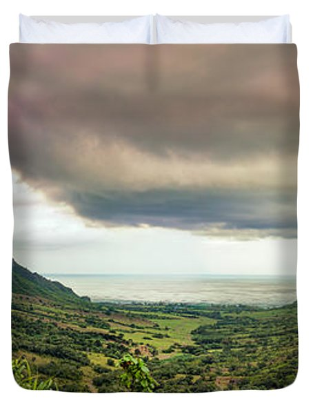 Kaaawa Valley Panorama Duvet Cover