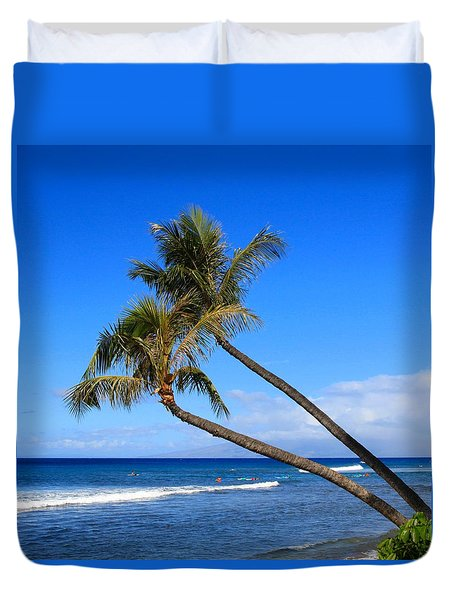 Kaanapali Hawaii Duvet Cover by DJ Florek