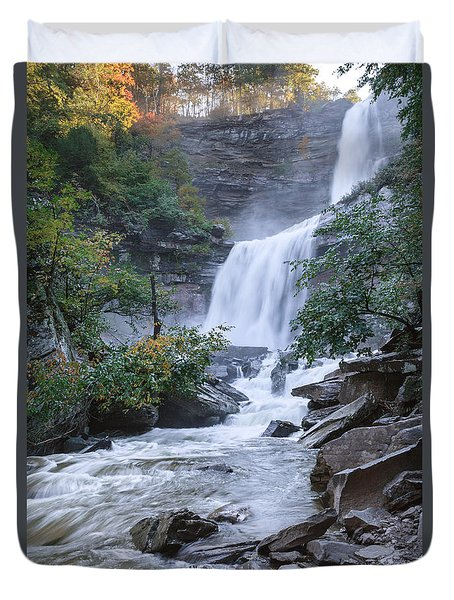 Kaaterskill Falls Duvet Cover by Bill Wakeley