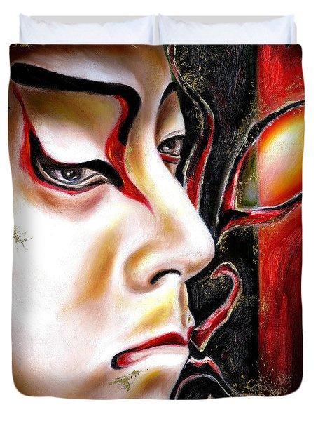 Kabuki Three Duvet Cover by Hiroko Sakai