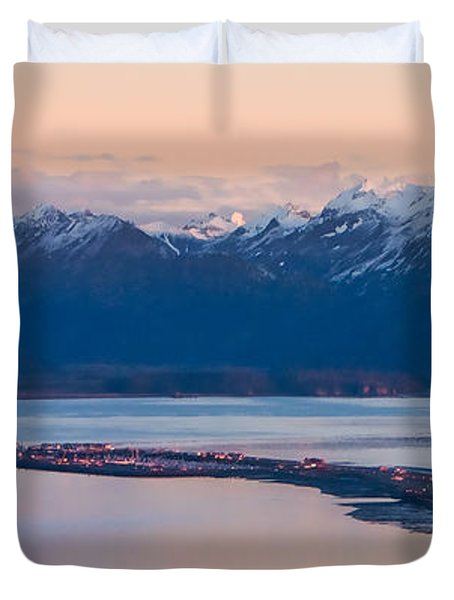 Kachemak Bay At Sunset Duvet Cover