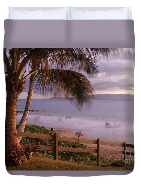 Kai Makani Hoohinuhinu O Kamaole - Kihei Maui Hawaii Duvet Cover