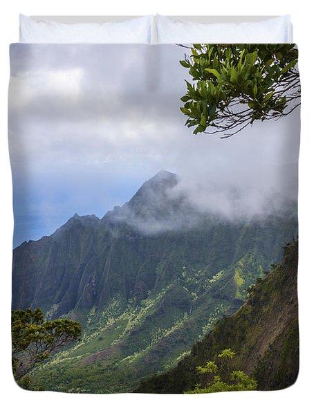 Kalalau Valley 5 - Kauai Hawaii Duvet Cover by Brian Harig