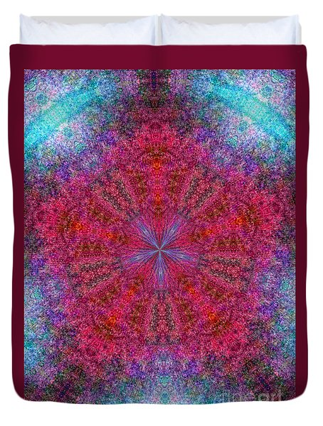Duvet Cover featuring the photograph Kaleidoscope 2 by Robyn King