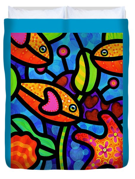 Kaleidoscope Reef Duvet Cover