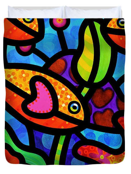 Kaleidoscope Reef Duvet Cover