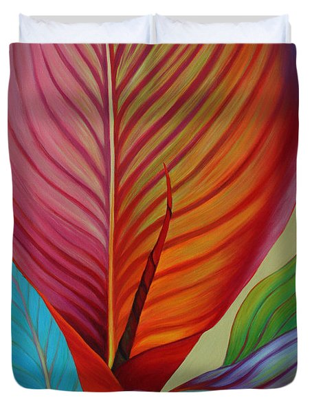 Duvet Cover featuring the painting Kaleidoscope by Sandi Whetzel