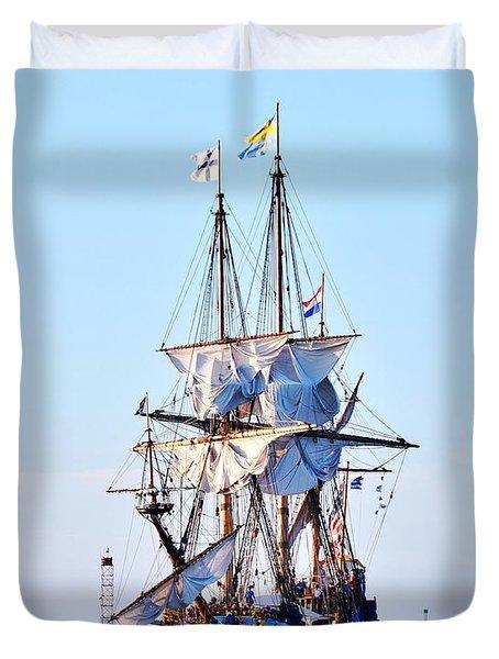 Kalmar Nyckel Tall Ship Duvet Cover