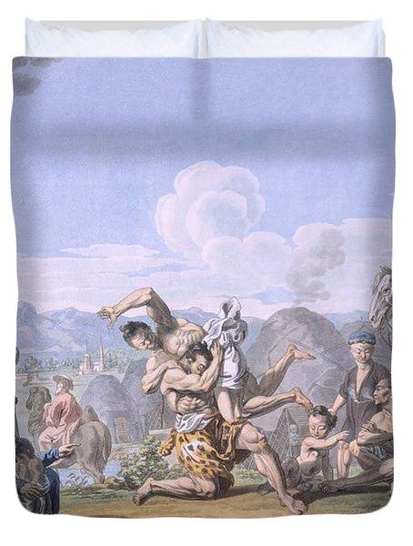 Kalmuks Wrestling, 1812-13 Duvet Cover