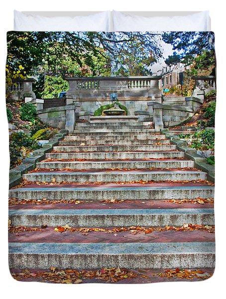 Kalorama Spanish Steps Duvet Cover