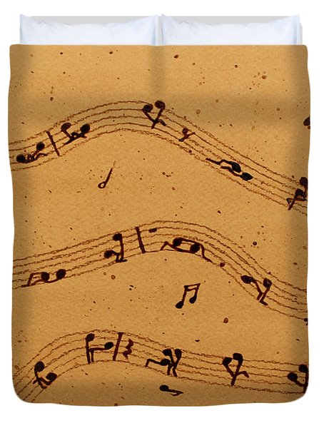 Kamasutra Music Coffee Painting Duvet Cover