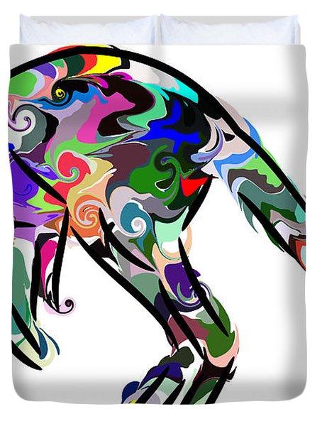 Kangaroo 2 Duvet Cover by Chris Butler