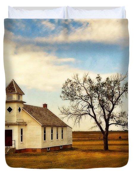 Kansas Church Duvet Cover by Marty Koch