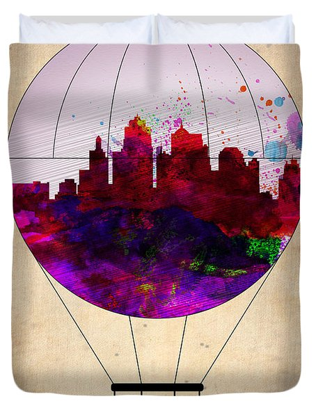 Kansas City Air Balloon Duvet Cover