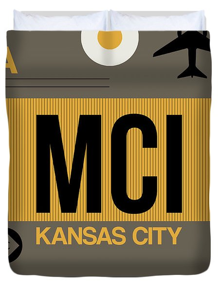 Kansas City Airport Poster 1 Duvet Cover