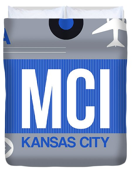 Kansas City Airport Poster 2 Duvet Cover
