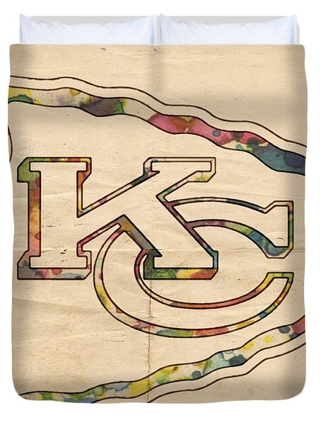 Kansas City Chiefs Poster Vintage Duvet Cover