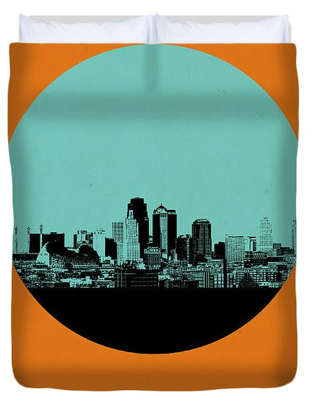 Kansas City Circle Poster 1 Duvet Cover