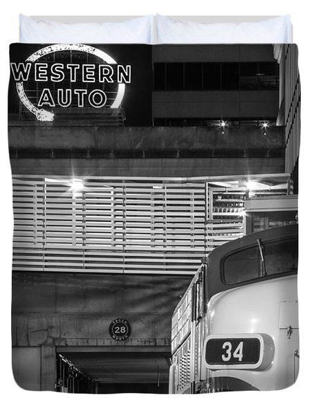 Kansas City Night Train Duvet Cover