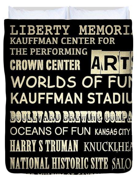 Kansas City Famous Landmarks Duvet Cover