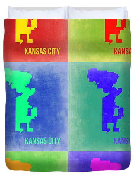 Kansas City Pop Art 1 Duvet Cover