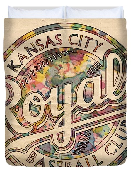 Kansas City Royals Logo Vintage Duvet Cover