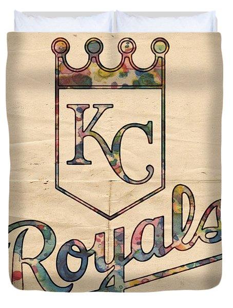 Kansas City Royals Poster Vintage Duvet Cover
