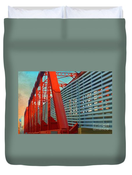 Kansas City Train Bridge - Pencoyd Railroad Bridge  Duvet Cover