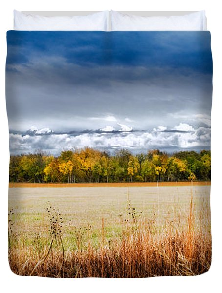 Kansas Fall Landscape Duvet Cover
