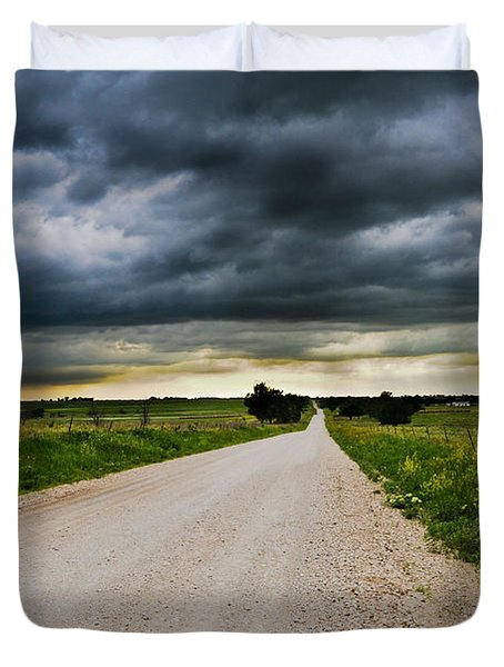 Kansas Storm In June Duvet Cover