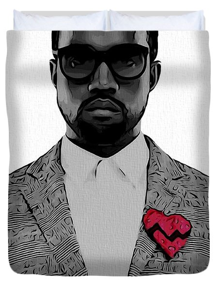 Kanye West  Duvet Cover by Dan Sproul