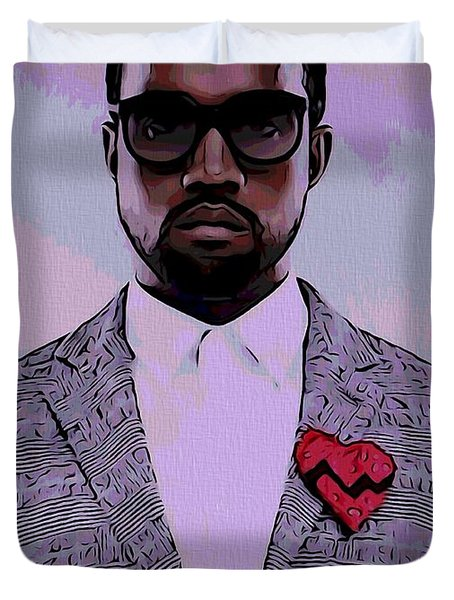 Kanye West Poster Duvet Cover by Dan Sproul