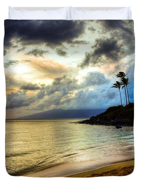 Kapalua Bay Sunset Duvet Cover