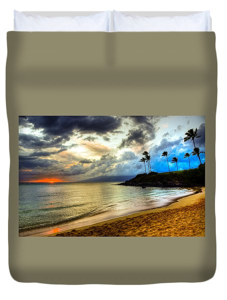 Kapalua Bay Sunset Duvet Cover