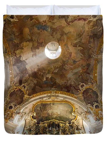 Kappele Wurzburg Organ And Ceiling Duvet Cover