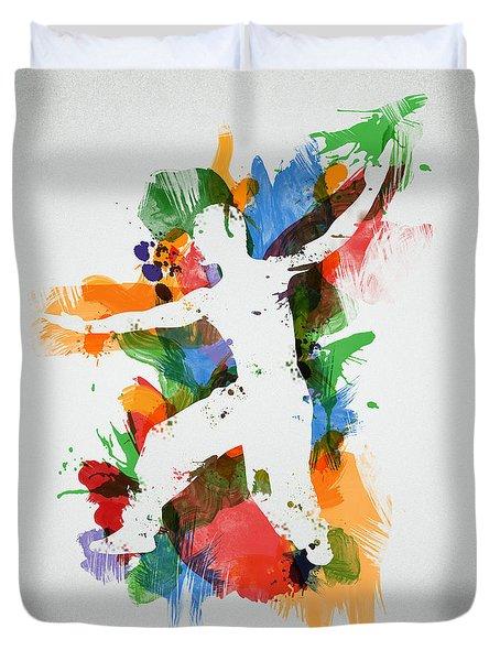 Karate Fighter Duvet Cover