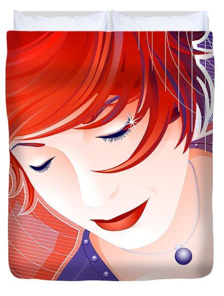 Karin Duvet Cover by Sandra Hoefer