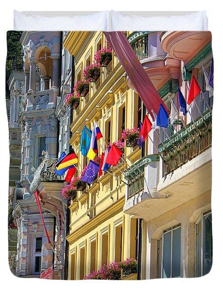 Karlovy Vary Duvet Cover by Mariola Bitner