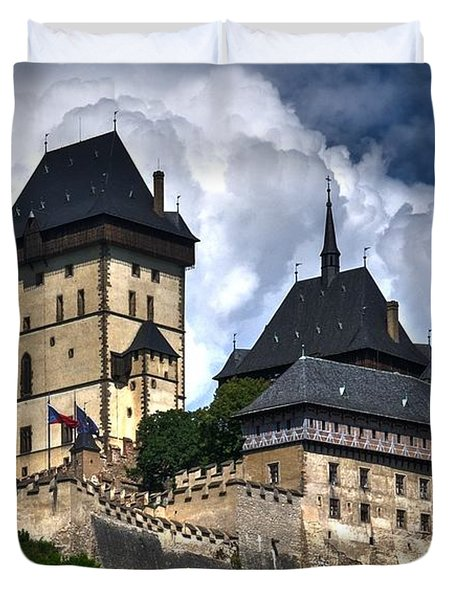 Duvet Cover featuring the photograph Karlstejn Castle In Prague 2 by Joe  Ng