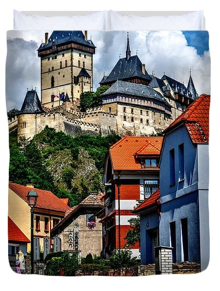 Karlstejn Castle In Prague  Duvet Cover