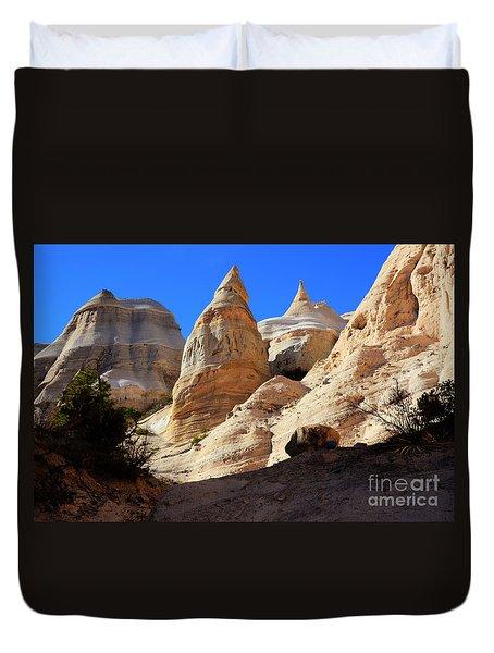 Kasha-katuwe Tent Rocks Duvet Cover by Bob Christopher
