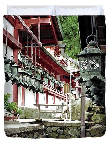 Kasuga Lantern Shrine - Nara Japan Duvet Cover