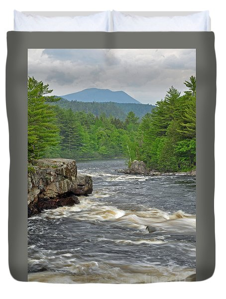 Katahdin And Penobscot River Duvet Cover