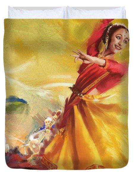 Kathak Dance Duvet Cover by Catf