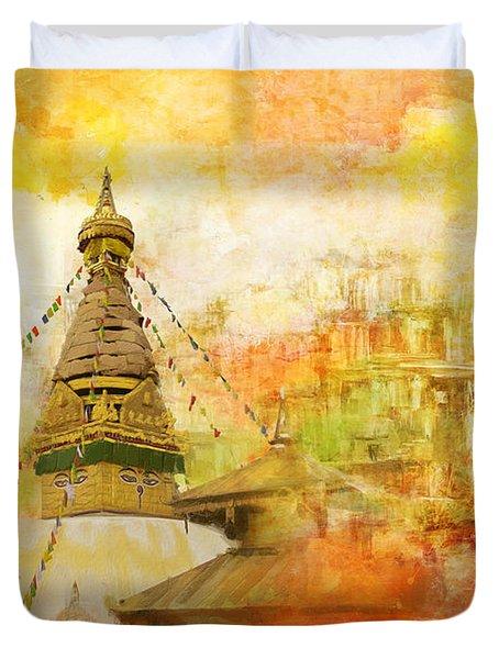 Kathmandu Valley Duvet Cover